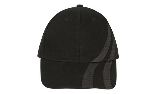 Brushed Heavy Cotton Cap with Tyre Tracks H4015