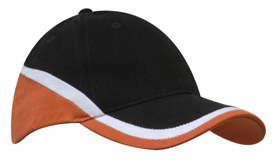 Brushed Heavy Cotton Tri-Coloured Cap H4026