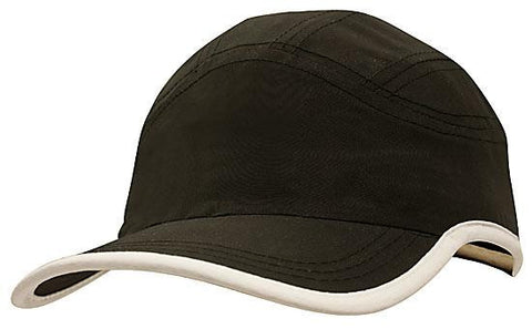 Microfibre Sports Cap with Trim on Edge of Crown & Peak H4094