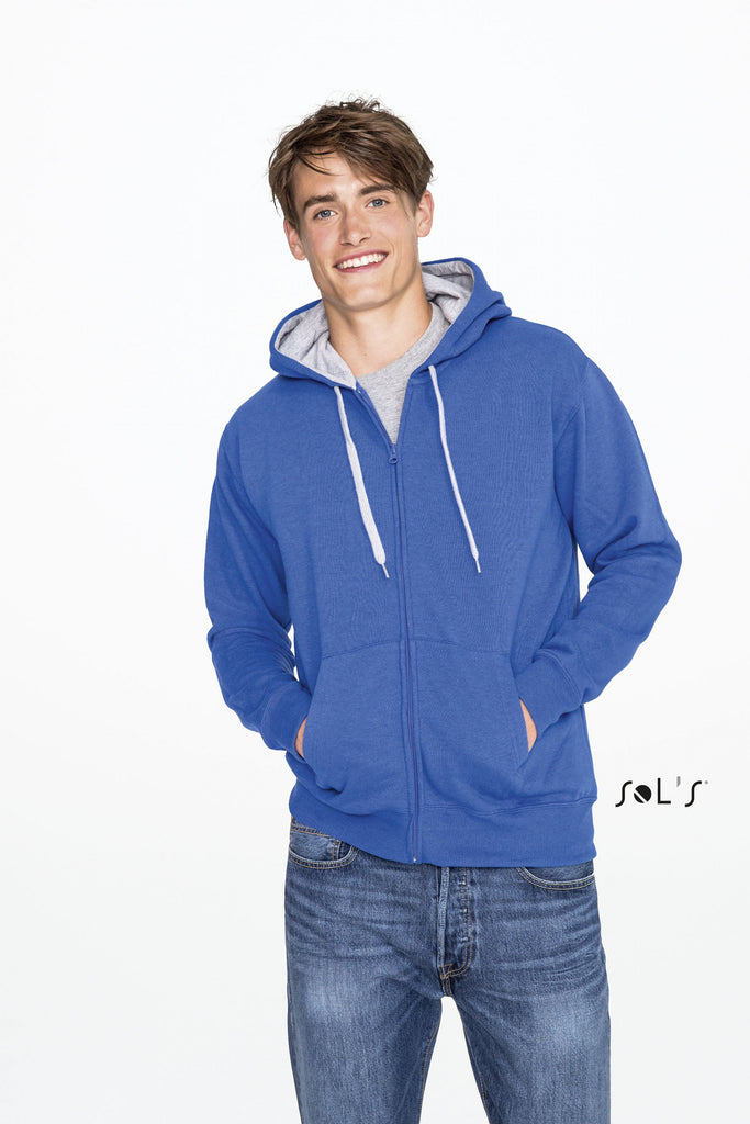 Soul Men's Contrasted Jacket With Lined Hood S46900
