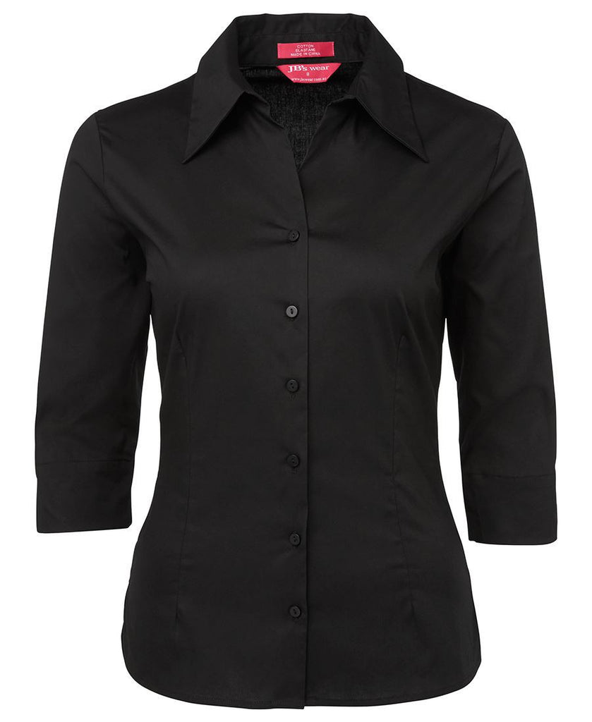 Black Promo Ladies 3/4 Fitted Shirt