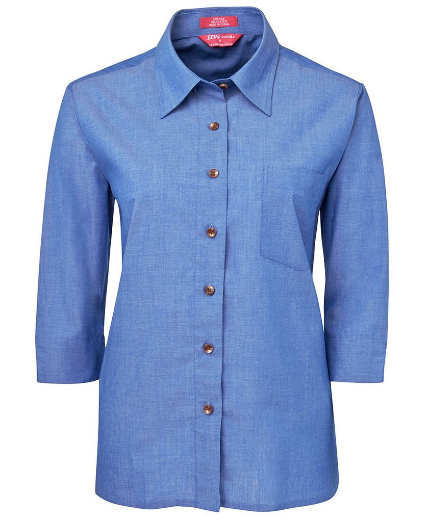 Buy Ladies 3/4 Indigo Shirt