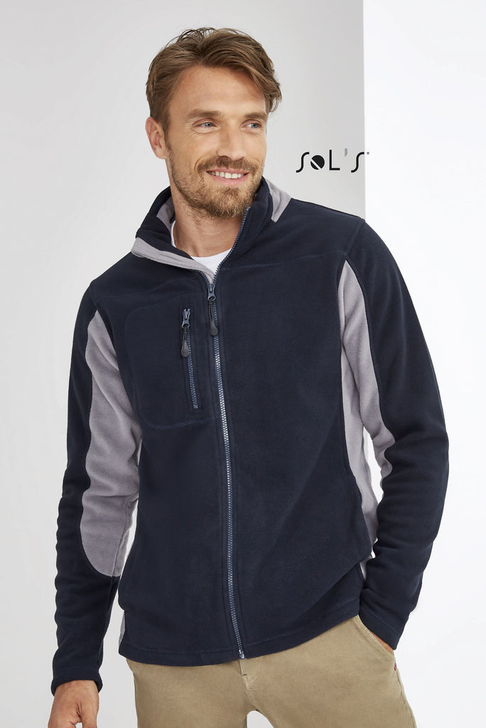Nordic Men'S Two-Colour Zipped Fleece Jacket S55500