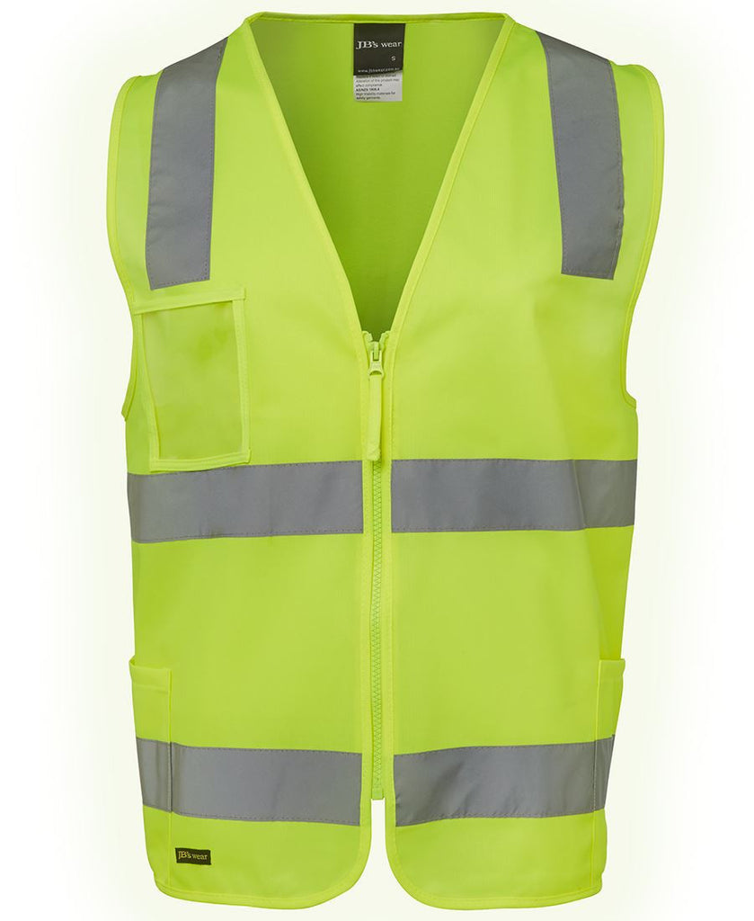 Lime Hi Vis (D+N) Zip Safety Vest For Sale