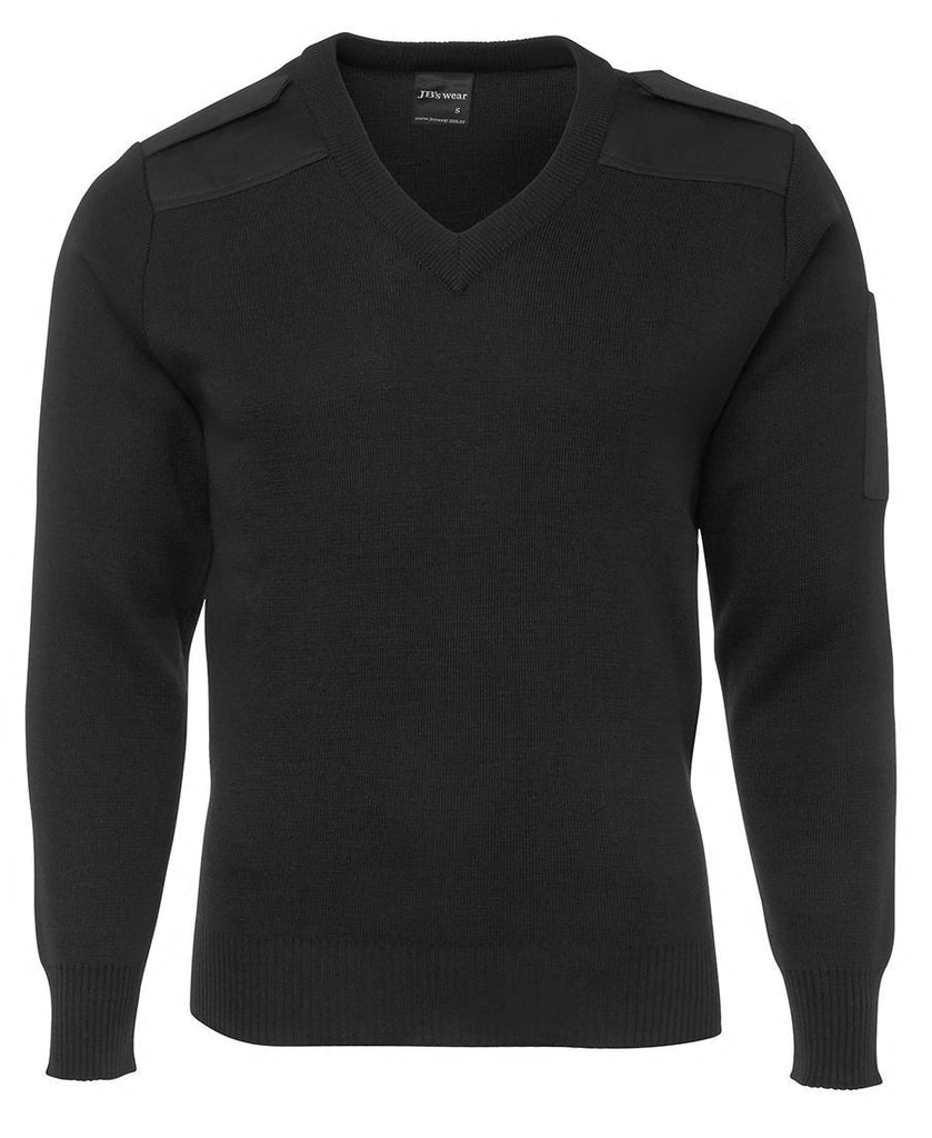 Black Promotional Knitted Epaulette Jumper