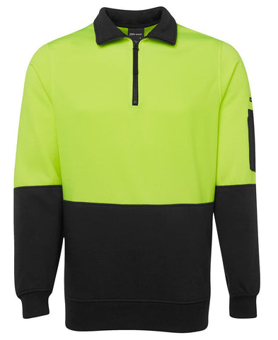 Hi Vis 1/2 Zip Fleecy 6HVFH