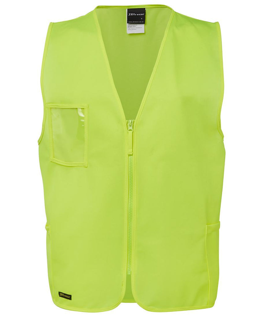 Lime Hi Vis Zip Safety Vest In Stock