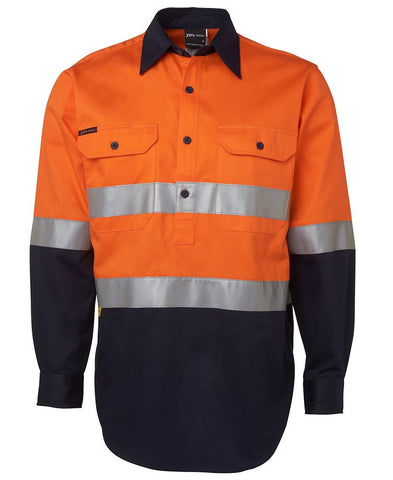 Hi Vis (D+N) Close Front L/S Shirt 6HWCF