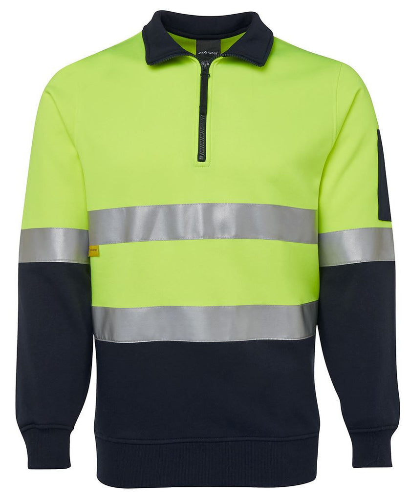Printed Hi Vis (D+N) 1/2 Zip Fleecy Sweat
