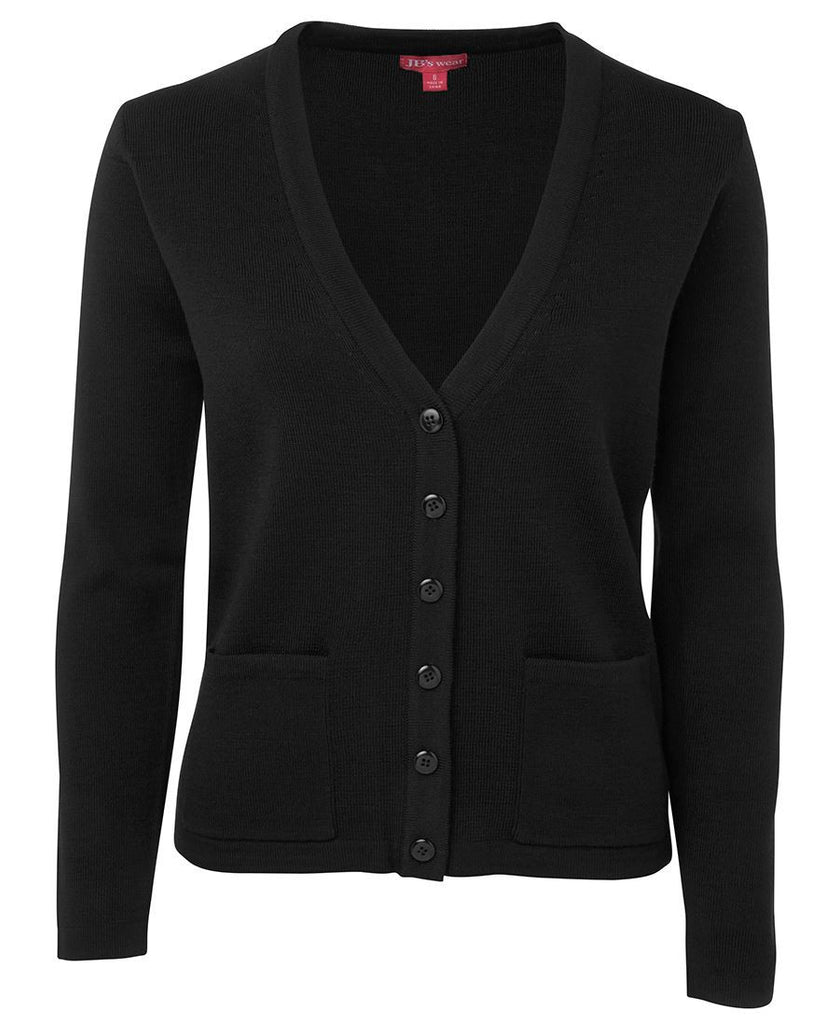 Black Custom Ladies Knitted Cardigan