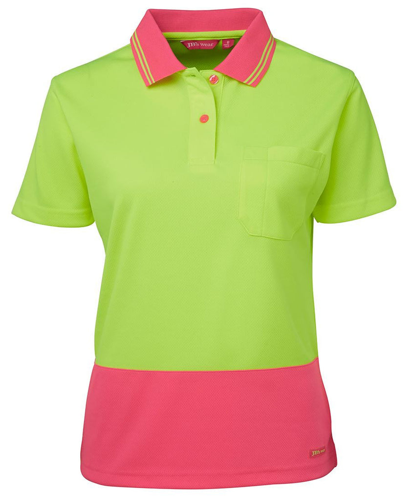 Ladies Hi Vis S/S Comfort Polo 6LHCP