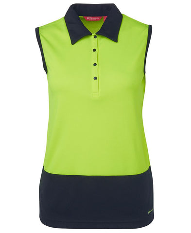 Ladies Hi Vis S/Less Polo 6LHSP