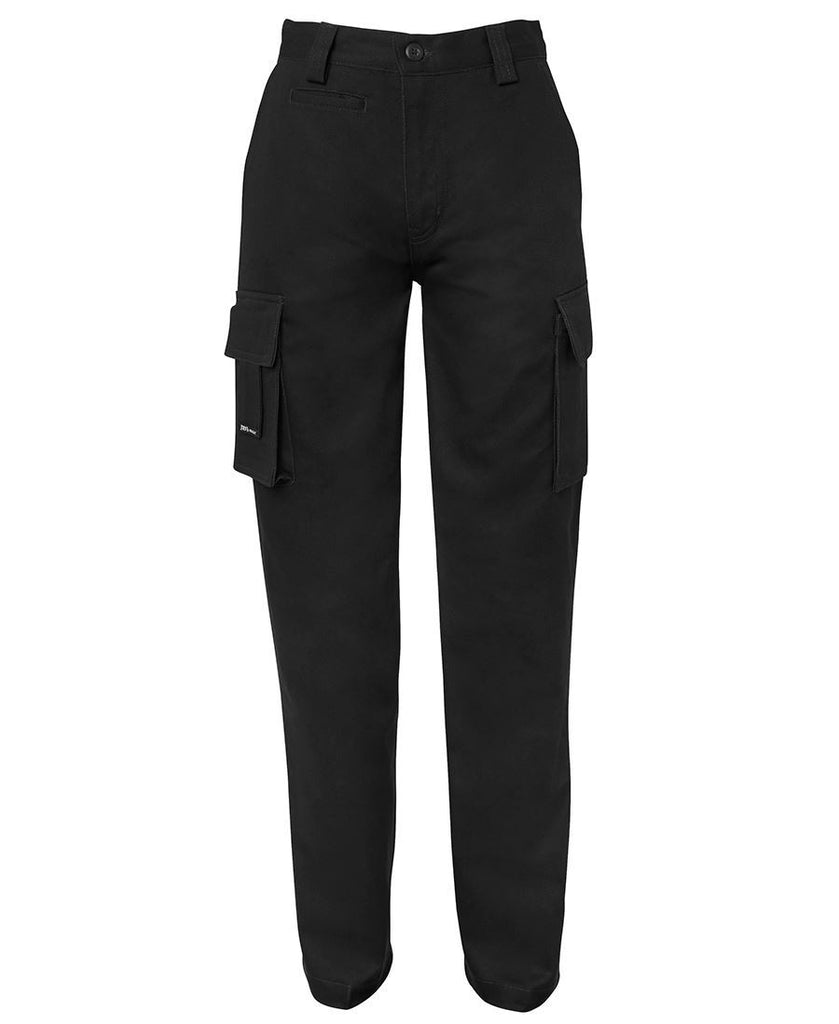 Black Branded Ladies Light Multi Pocket Pant