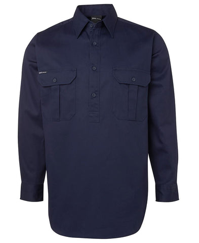 L/S 190G Close Front Work Shirt 6WSCF