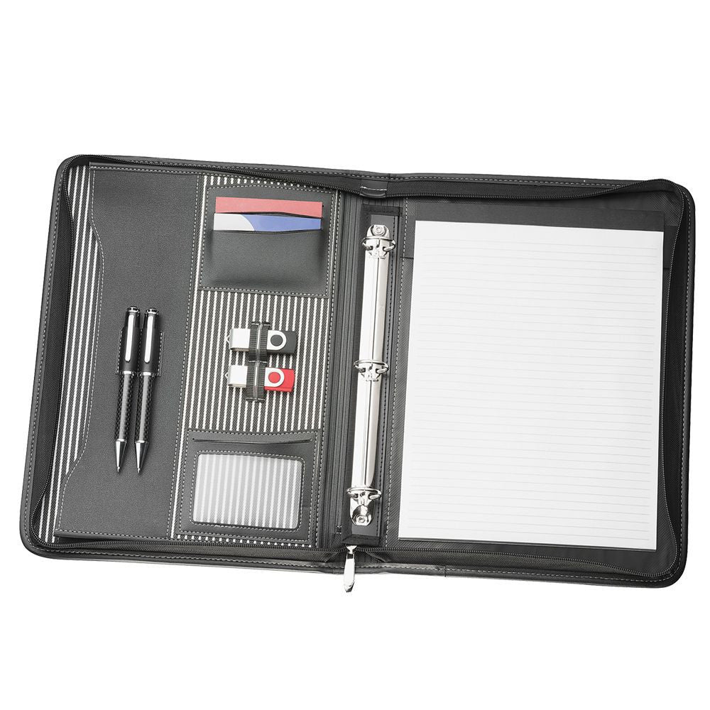 A4 Zippered Compendium with Removable 3 Ring Bind R9032