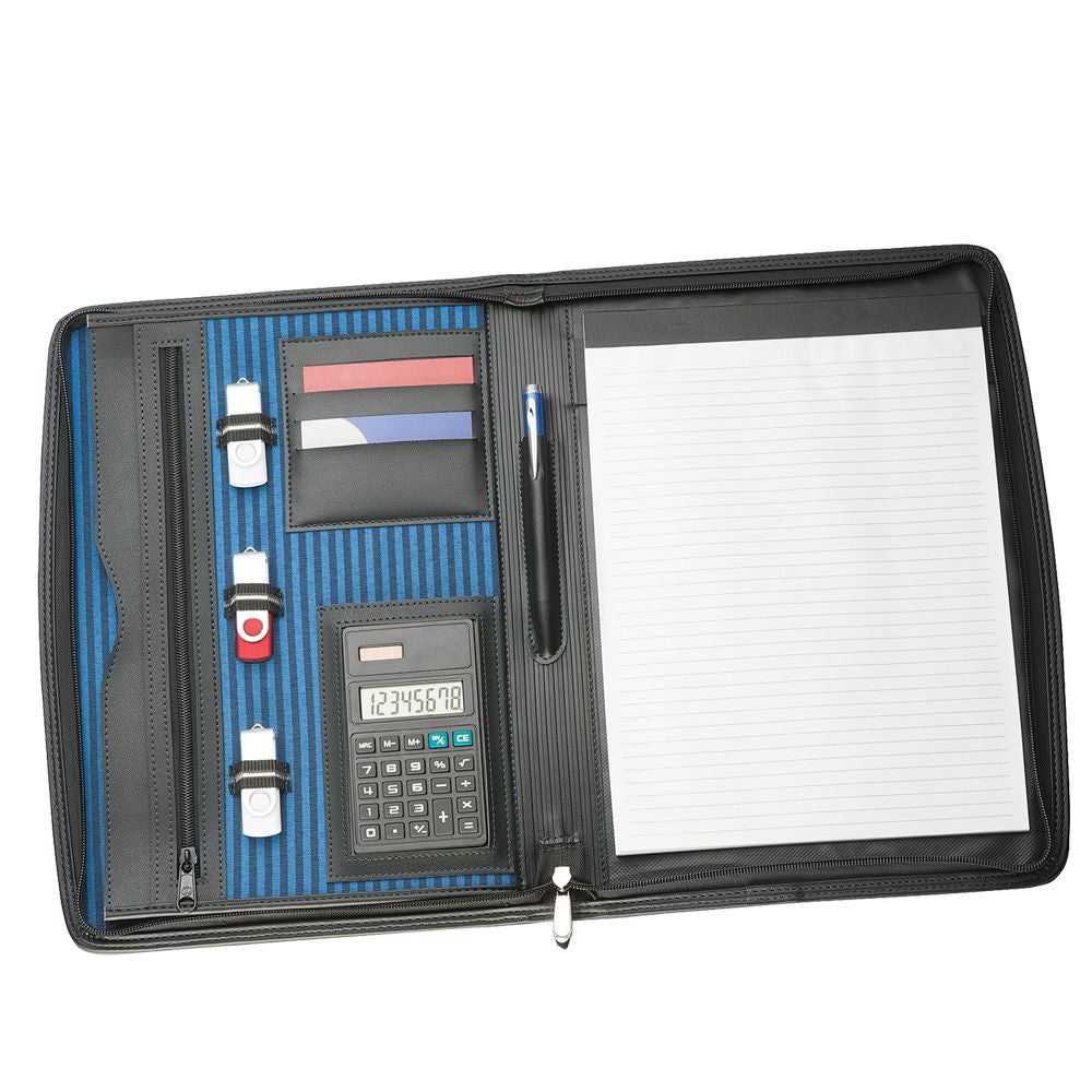 A4 Zippered Compendium with Calculator R9038