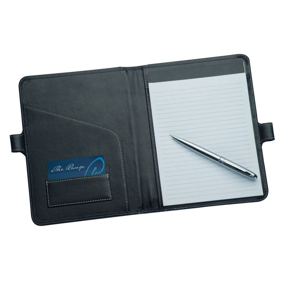 A5 Leather Pad Cover with Pen Closure R9101