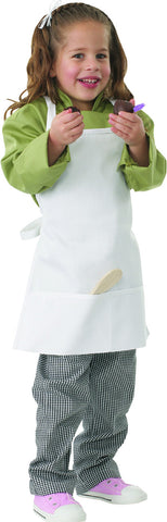 Kiddies White Bib Apron A3002-WHT