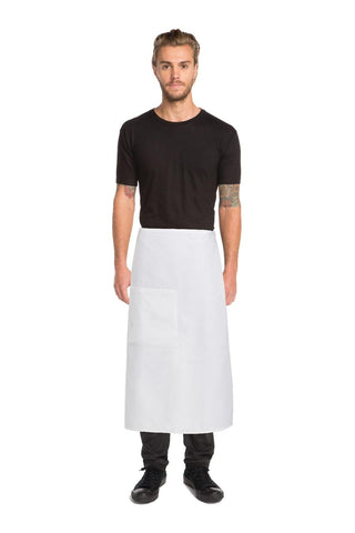 Waffle Weave White 3/4 Apron A600-WHT