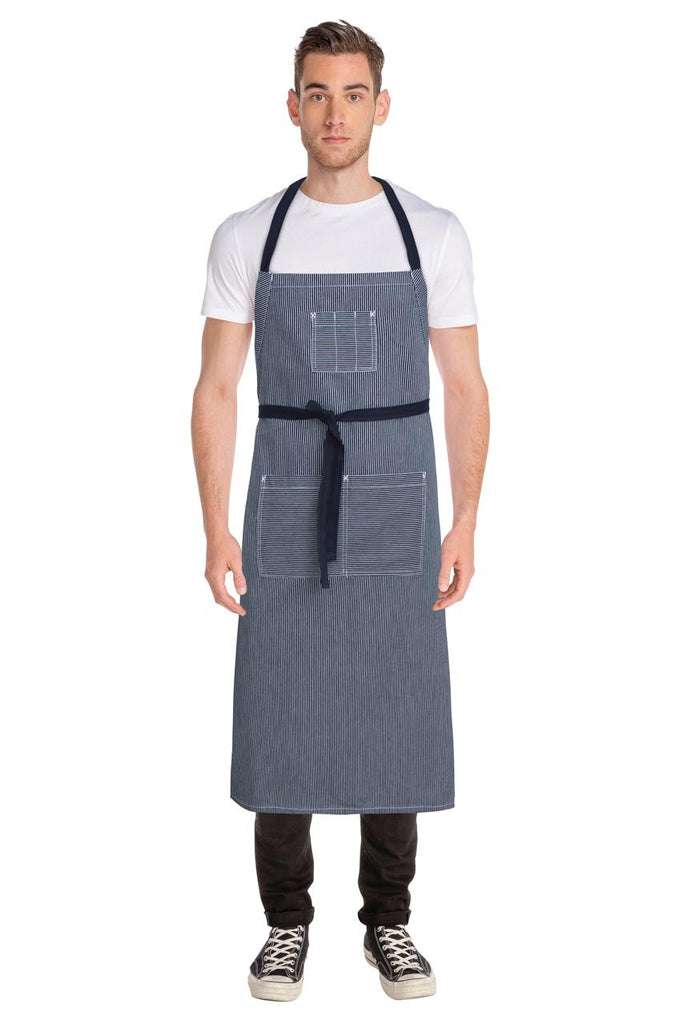 Portland Indigo Blue Denim Adjustable Bib Apron AB038-IBL