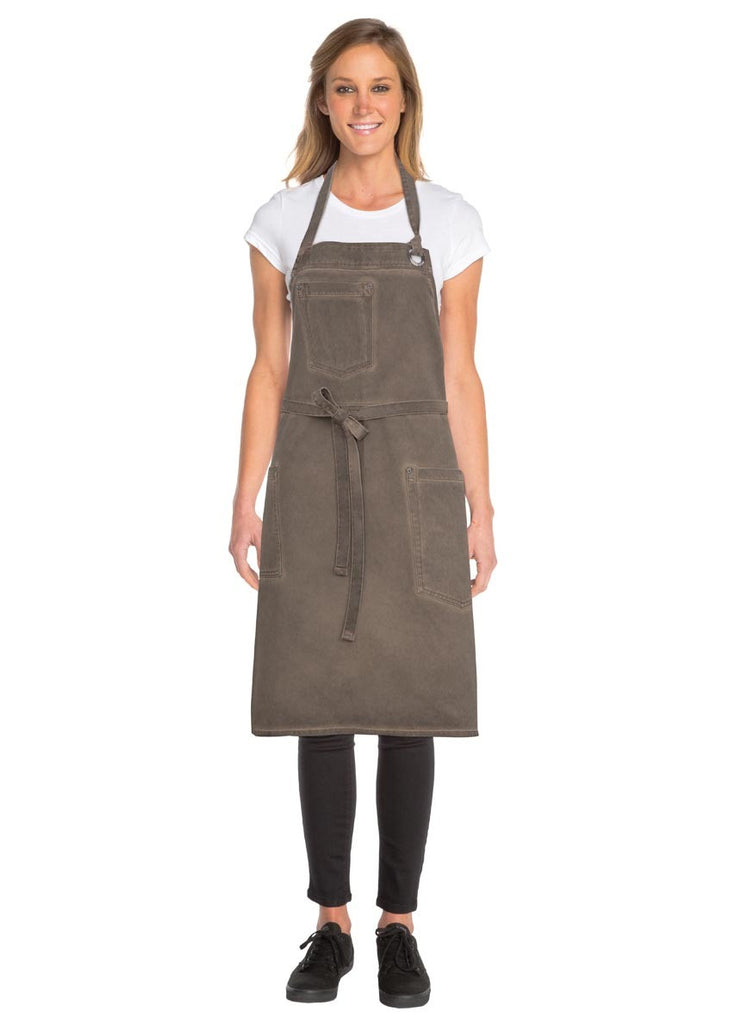 Dorset Earth Brown Bib Apron ABAQ054-EAB