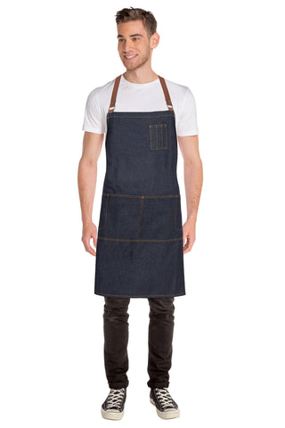 Memphis Blue Denim Cross Back Apron ACRS035-IBL