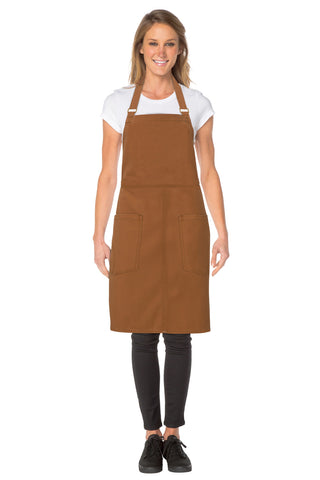 Rockford Nutmeg Cross Back Apron ACRS053-NTM
