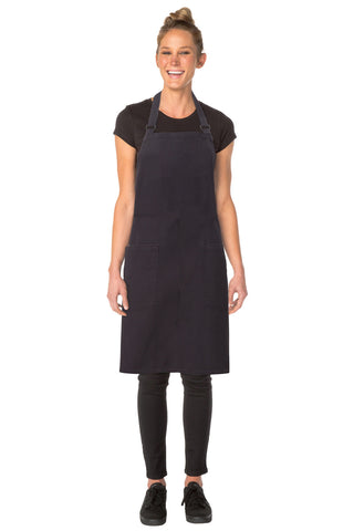 Rockford Steel-Grey Cross Back Apron ACRS053-SGY