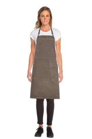 Dorset Earth Brown Cross Back Apron ACRS054-EAB