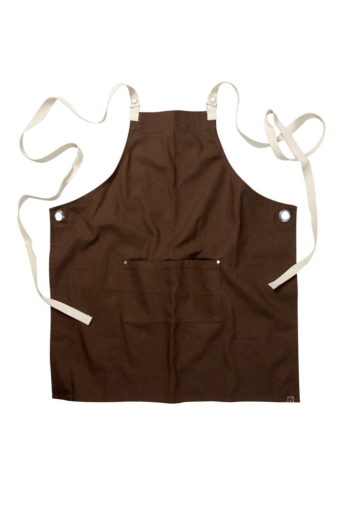 Byron Cross-Back Brown Apron ACRS602-BRO