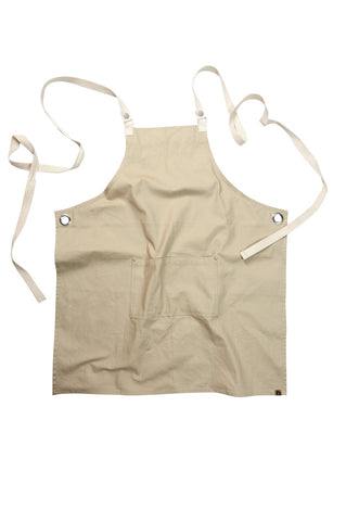 Byron Cross-Back Natural Apron ACRS602-NAT