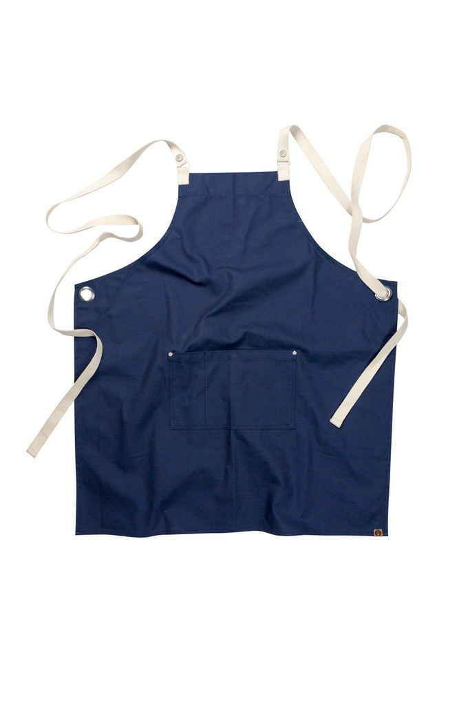 Byron Cross-Back Navy Apron ACRS602-NAV