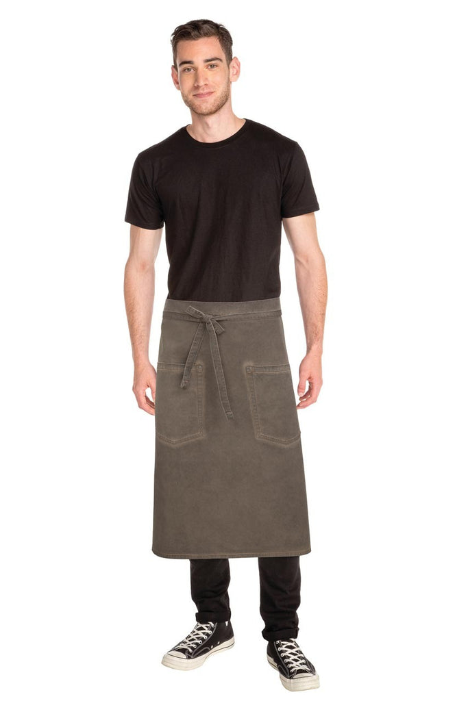 Dorset Earth Brown 3/4 Apron ALWAQ024-EAB