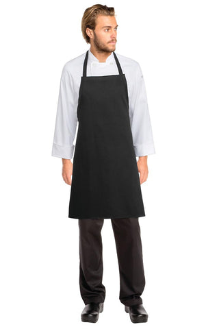 Black Bib Apron No Pocket APKBL