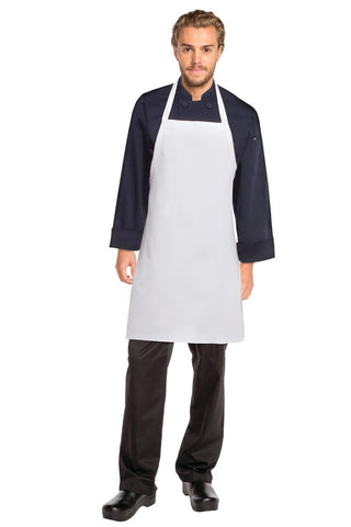 White Bib Apron No Pocket APKDC