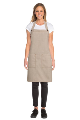 Soho Natural Bib Apron  ASCB12-NAT