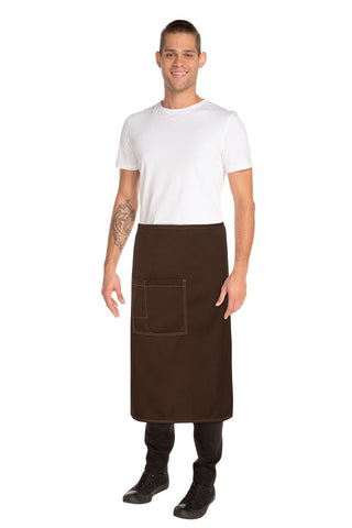 Soho Chocolate 3/4 Wide Apron ASCF24-CHO
