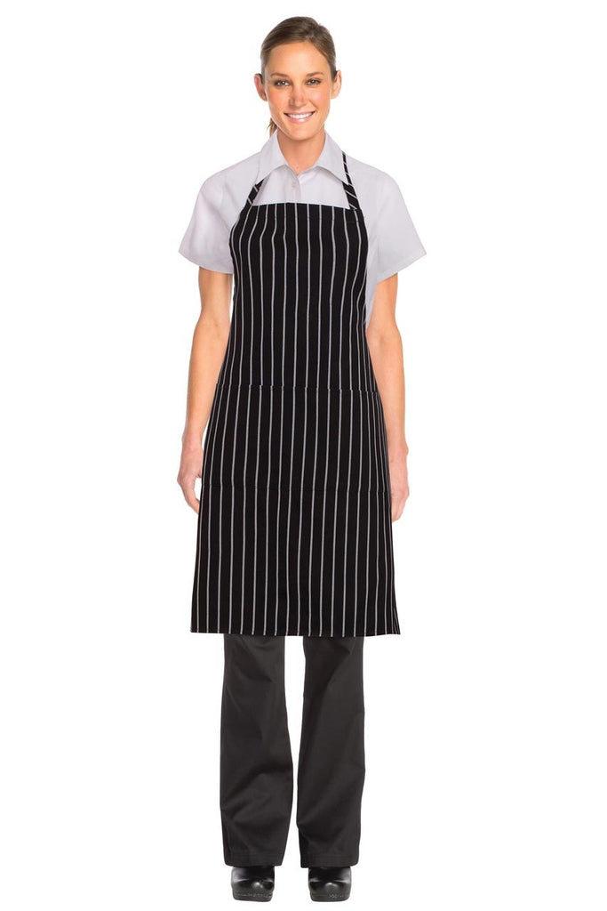 Black 3/4 Bar Apron B3-BLK