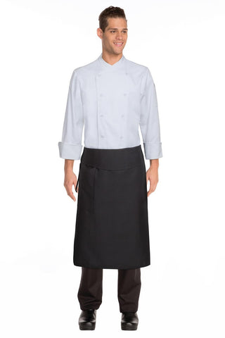 Black Tapered Apron W/ Flap BPTA