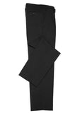 Black Branded Mens Classic Flat Front Pant