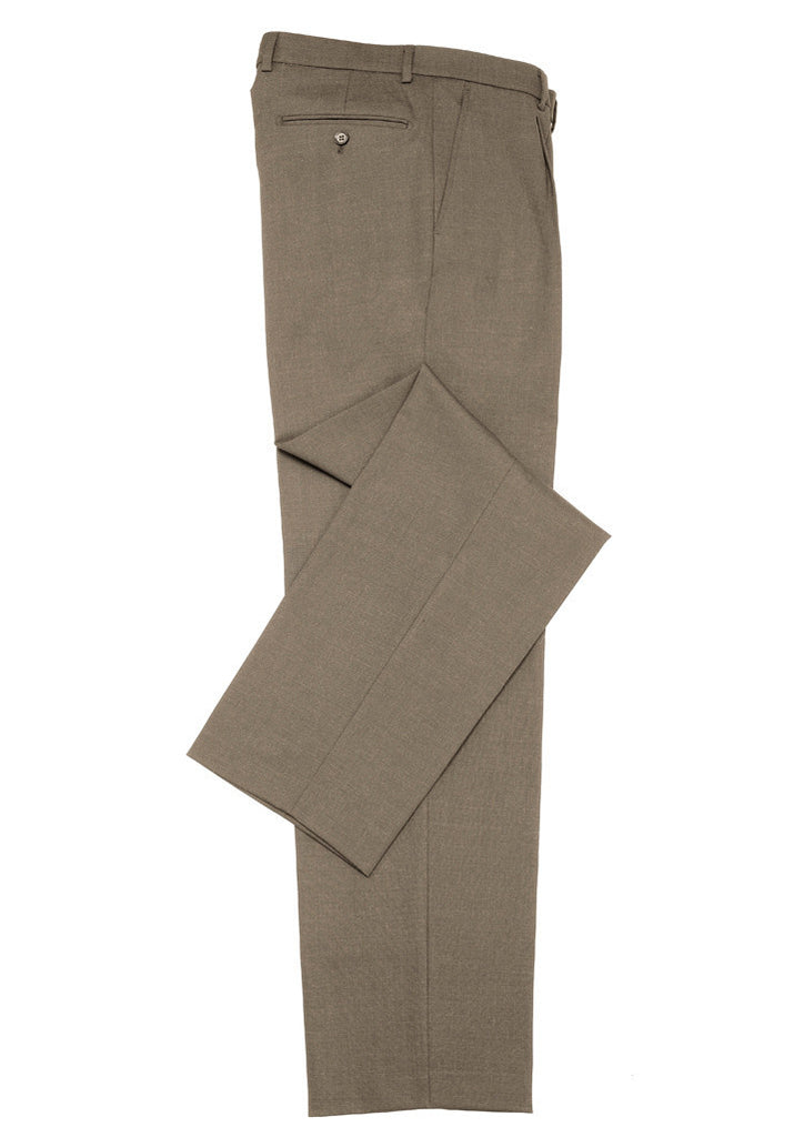 ˜Taupe Branded Mens Classic Flat Front Pant