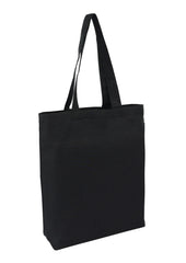 Canvas Tote Black With Bottom Only CAN-TT-BK-BTM