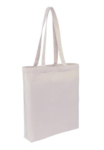 Cotton Calico Bag -  Tote With Bottom Only CTN-TT-BTM Plain Bag