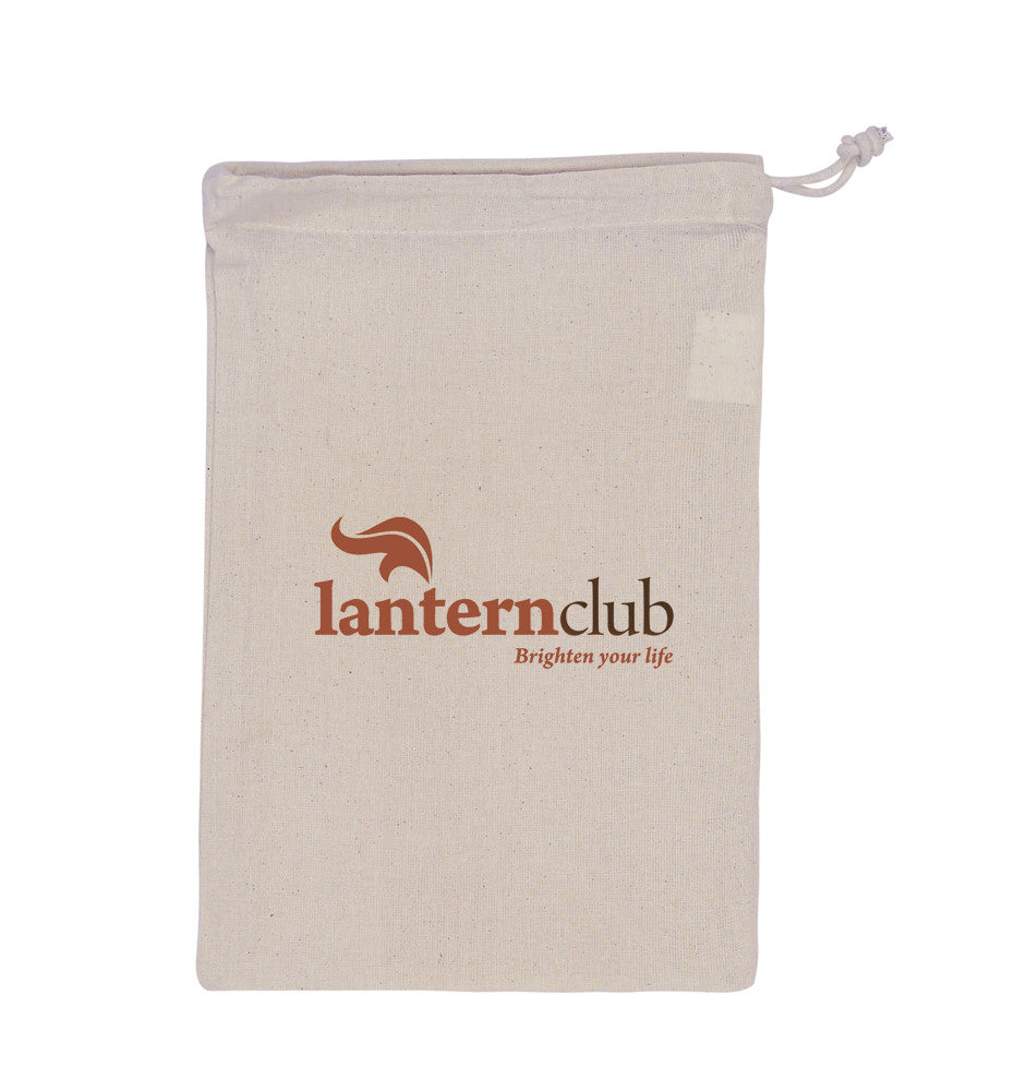 Cotton Drawstring Small Pouch With Logo