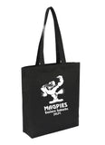 Custom Cotton Calico Bag -  Tote Black With Bottom Only