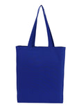 Cotton Tote With Base Gusset Only - Blue - CTN-TT-BL-BTM