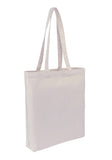 Cotton Tote With Base Gusset Only - White Supplier