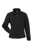 Black Custom Ladies Trinity 1/2 Zip Pullover