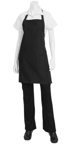 Black Two Patch Pocket Apron F53-BLK