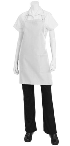 White Two Patch Pocket Apron F53-WHT